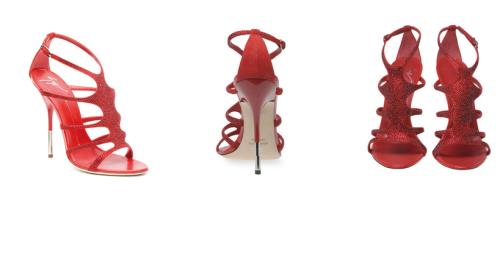 sandali rossi zanotti tacco a spillo 2011