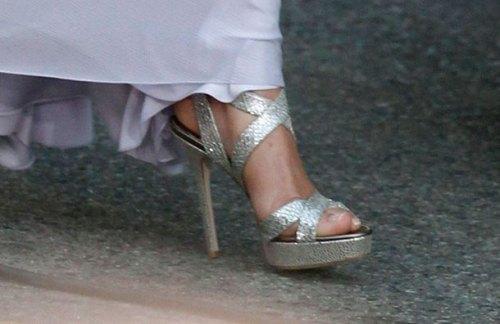 kate middleton feet shoe sandal jimmy choo bafta 2011