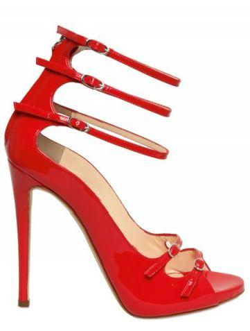 sandali fetish pelle rossa zanotti 2012