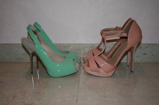 sandali colori pastello zara 2012 low cost tacco metallo