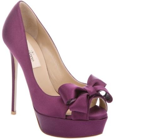 scarpe spuntate viole tacco altissimo valentino2012